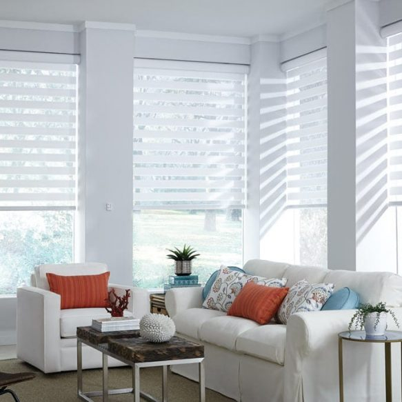 white colored room with white blinds