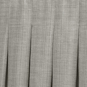 Close-up of drape with inverted pleat