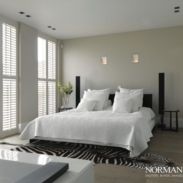 Bedroom with shutters