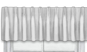 Close-up of valance french pleat top treatment