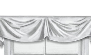 Close-up of valance top treatment